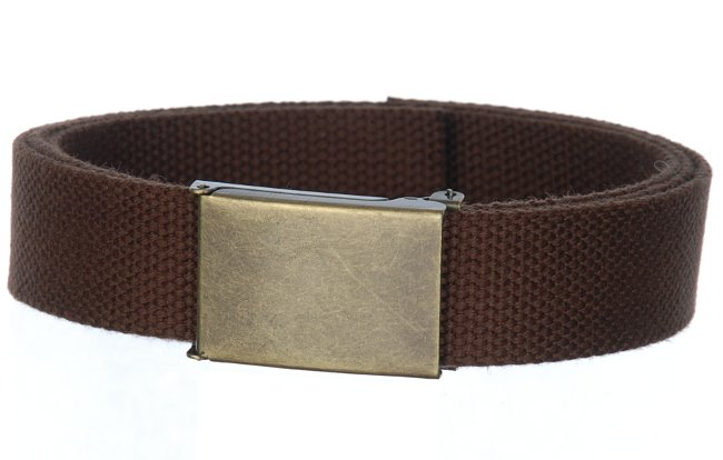 Strait City image  canvas military belt dark brown ab 4001 36ec0d3620d