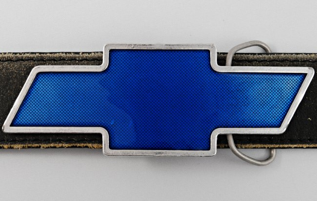 Strait City image chevy reflector buckle CHBT