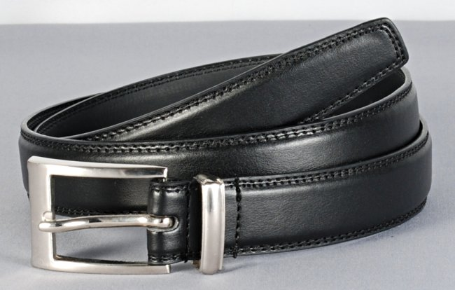 Strait City Image Mens Dress Belt Black 1841
