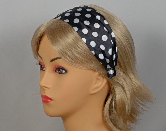 Strait City image  polka dot headband black HDB201 f189a1892be