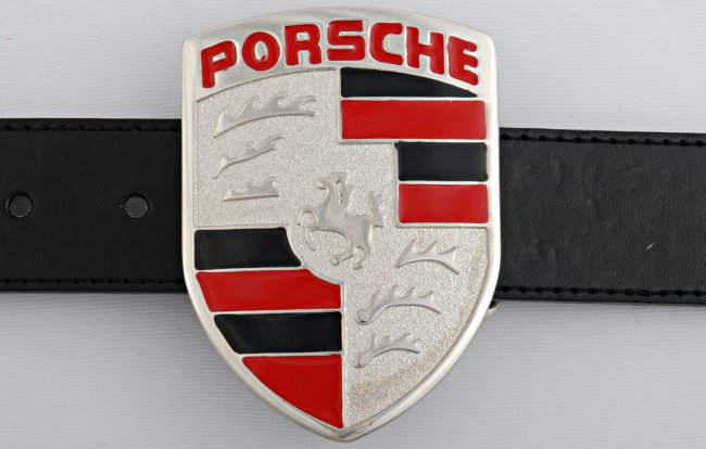 Strait City image: porsche crest buckle B7472 on batman logo belt, bmw logo belt, mercedes benz logo belt, lamborghini logo belt, porsche design belt, subaru logo belt, porsche design sneakers, porsche martini racing belt, porsche black belt,