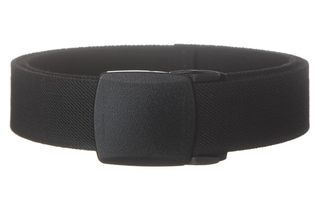 elastic polyester black military belt with black plastic buckle ae293253adf