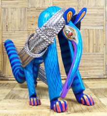 Zeny Fuentes' anteater with snakeskin braided pleather belt