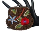 brown-bronze beaded embroidered petite coin purse