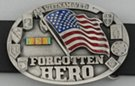Forgotten Hero Vietnam Vet and USA flag belt buckle