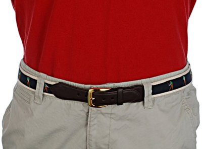 Strait City Trading Co Fabric Belts Leather Tabs
