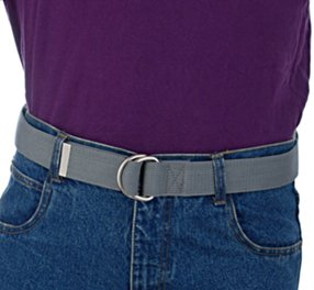 purple polo shirt with gray D-ring belt Men s ... 0056011a7bb