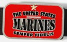 red enameled rectangular US Marines belt buckle