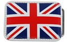 red white and blue union jack leather belt buckle