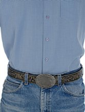 western scrollwork belt and buckle